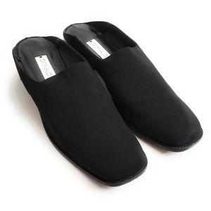 Donald J Pliner Alexa Black Elastic Mules Size 9